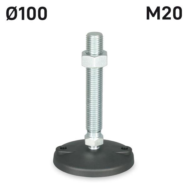 H94SF10M20125A_STELLFUSS_PA_D100_M20X125_ANSCHRAUBBOHRUNG