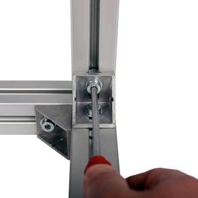 K40.N8 Winkel 40x40Aluminium DG blank