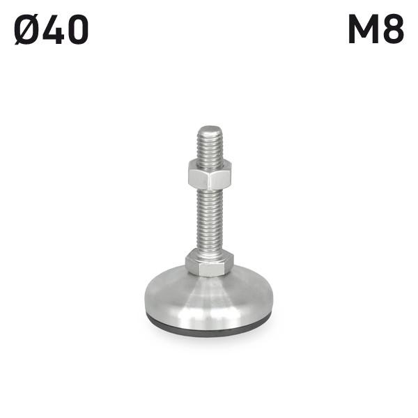 H94SF4M840E_STELLFUSS_EDELSTAHL_D40_M8X40